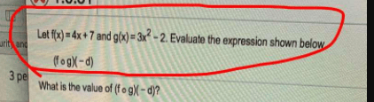 Evaluate the expression shown below