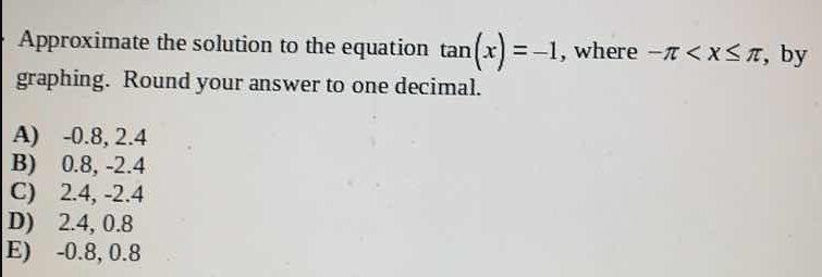 Approximate the solution to the equation tan (x)